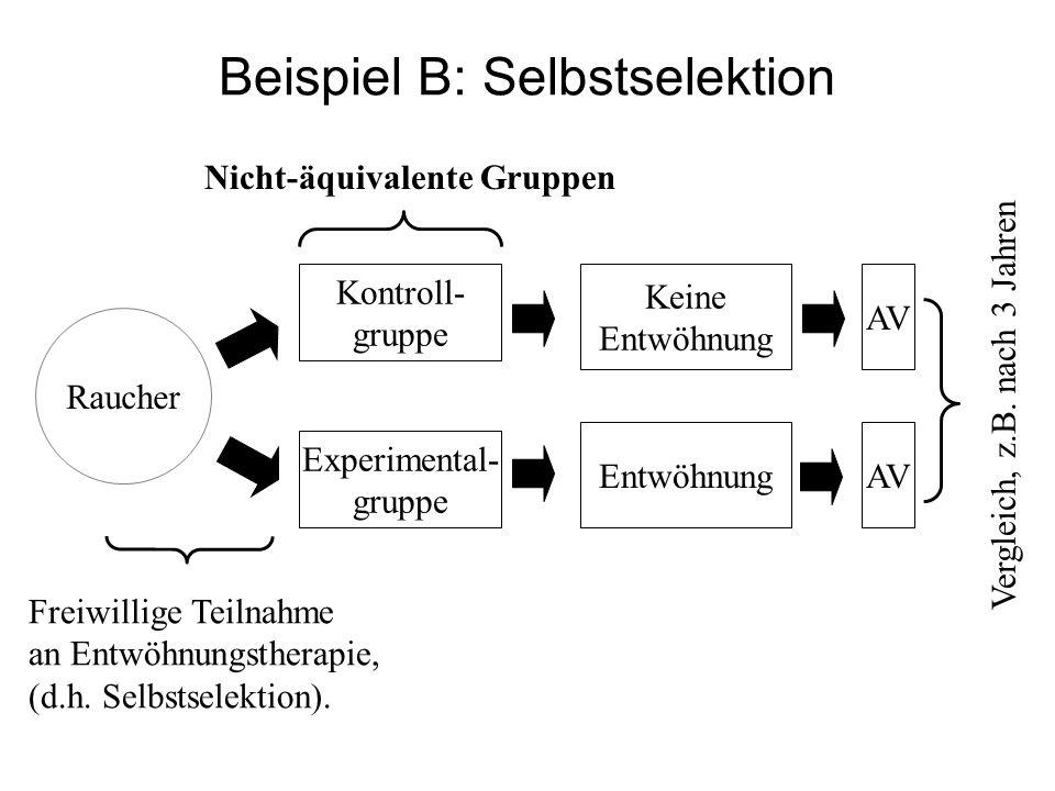 Beispiel B: Selbstselektion
