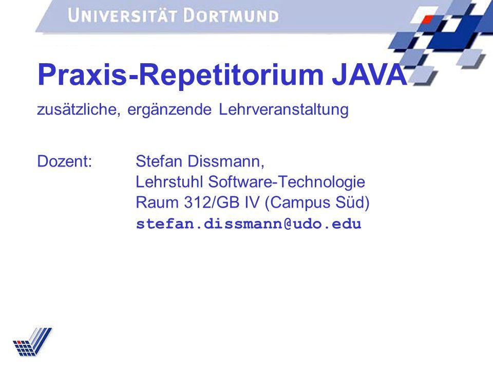 Praxis-Repetitorium JAVA zusätzliche, ergänzende Lehrveranstaltung