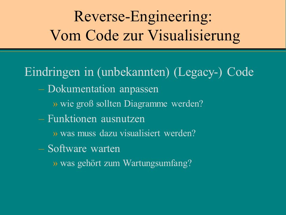Reverse-Engineering: Vom Code zur Visualisierung