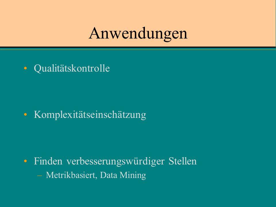 Anwendungen Qualitätskontrolle Komplexitätseinschätzung