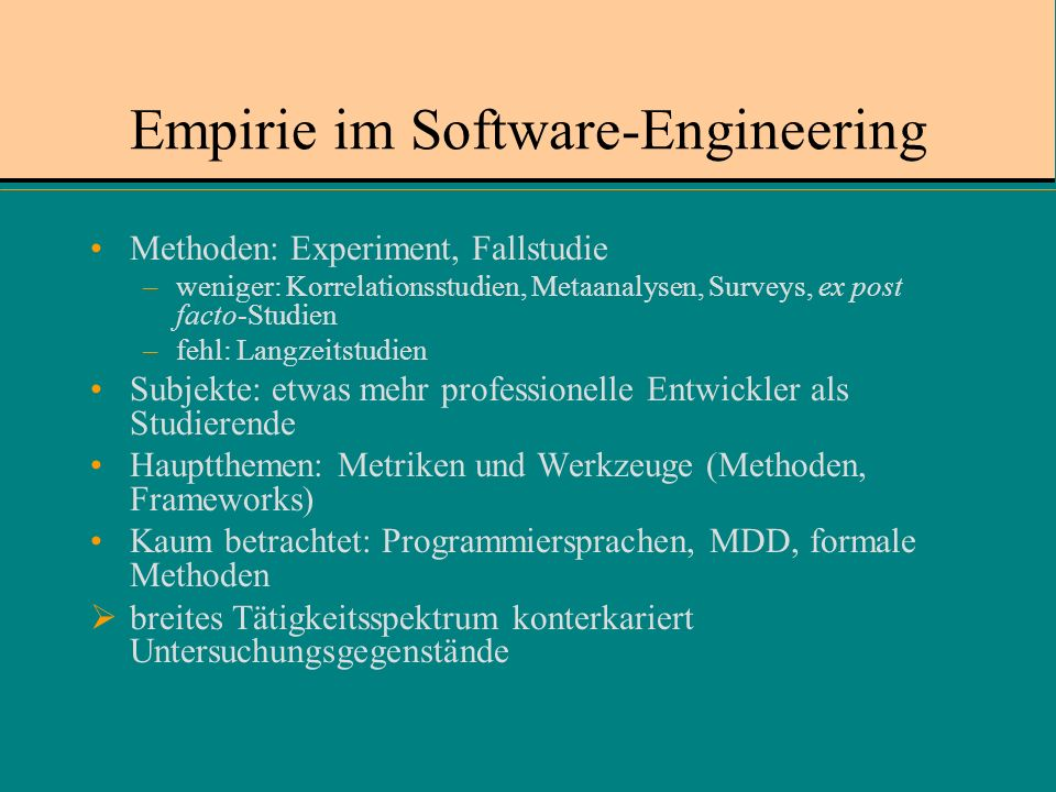 Empirie im Software-Engineering