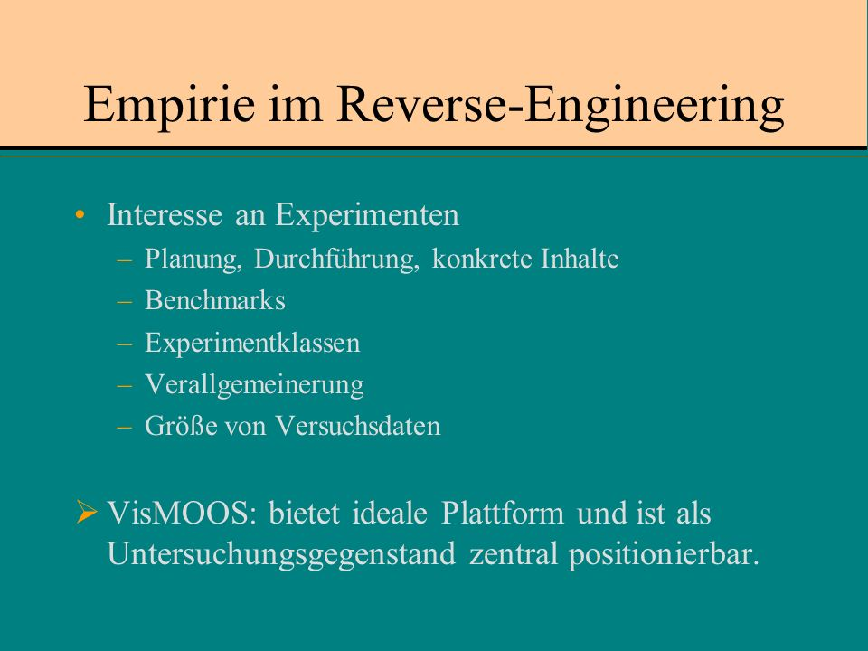 Empirie im Reverse-Engineering