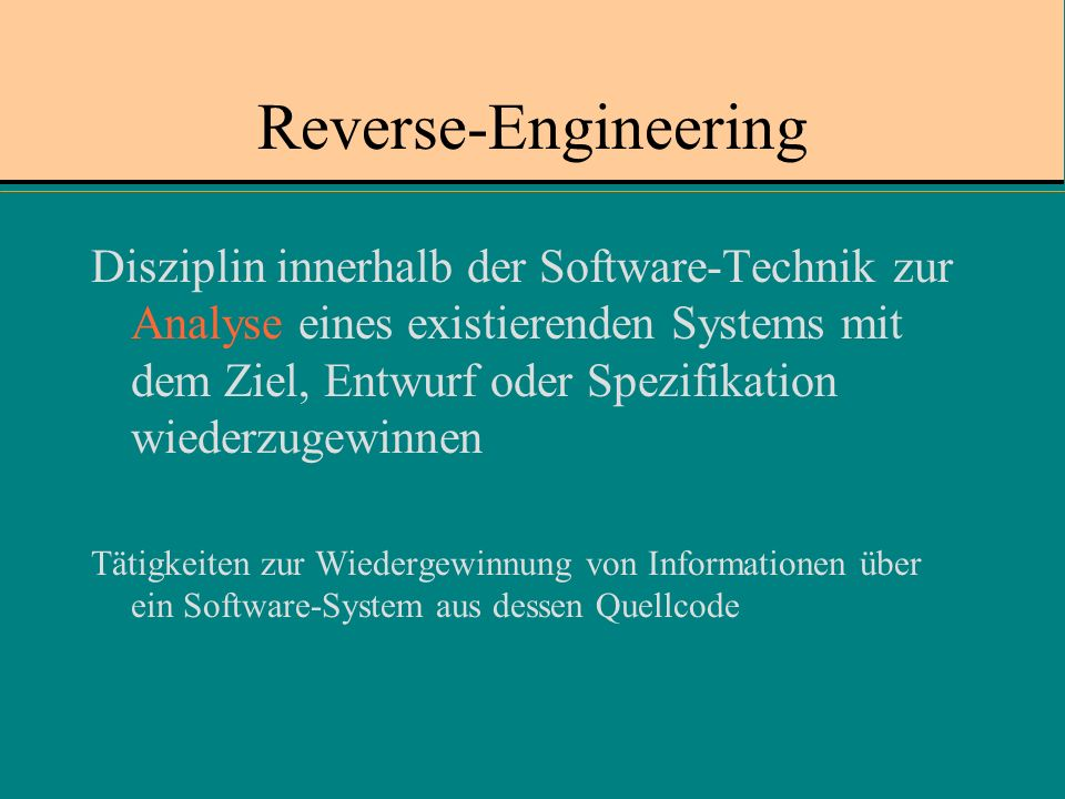 Reverse-Engineering