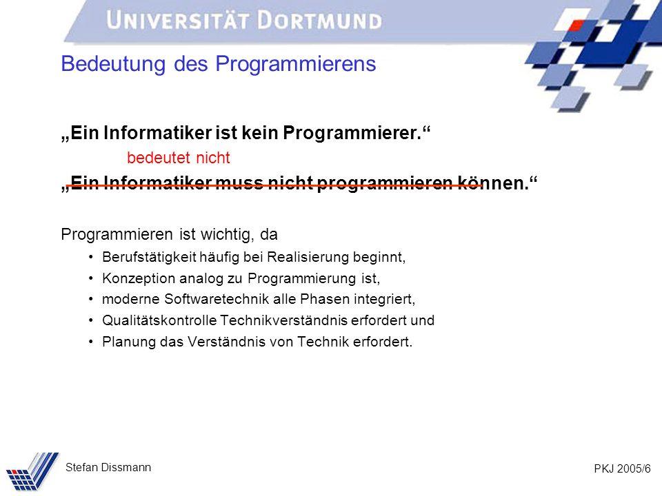 Bedeutung des Programmierens