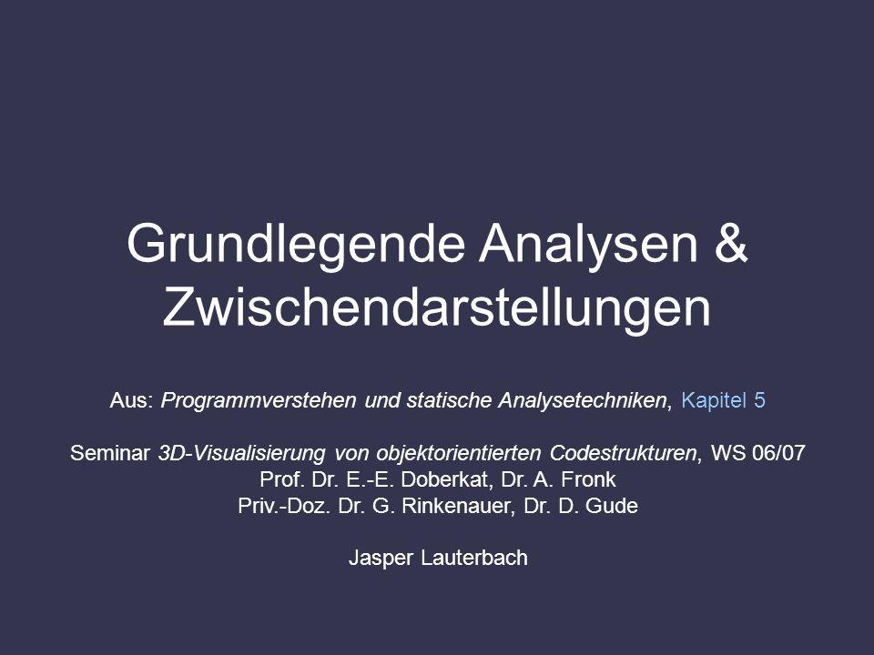 Grundlegende Analysen & Zwischendarstellungen