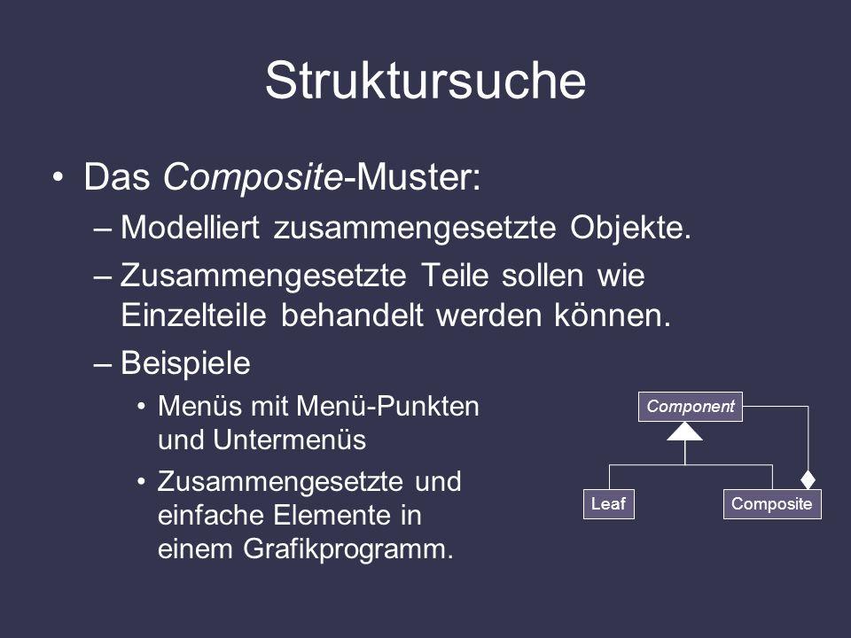Struktursuche Das Composite-Muster: