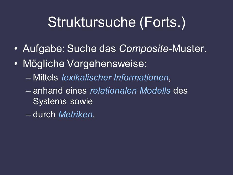 Struktursuche (Forts.)