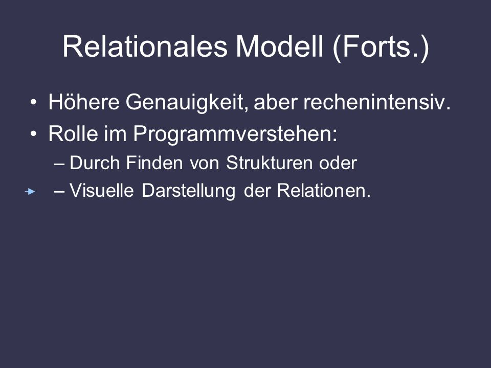 Relationales Modell (Forts.)