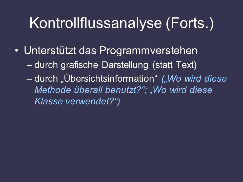 Kontrollflussanalyse (Forts.)