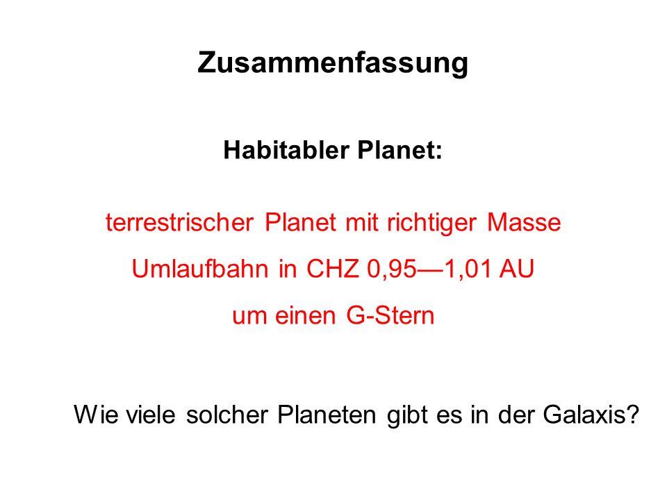 terrestrischer Planet mit richtiger Masse