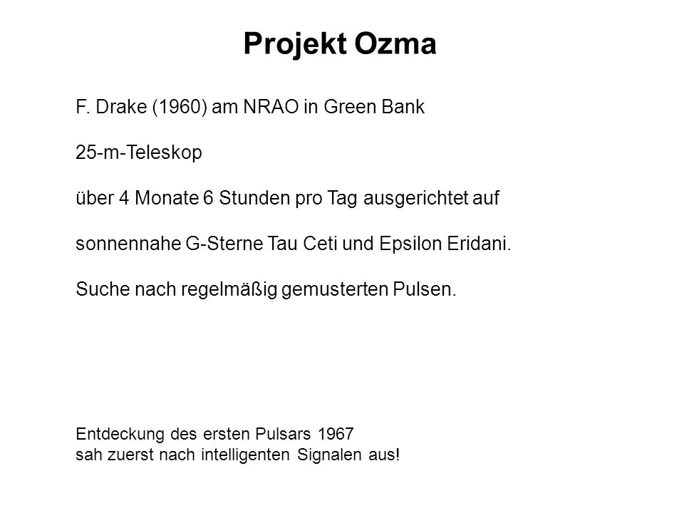 Projekt Ozma 25-m-Teleskop