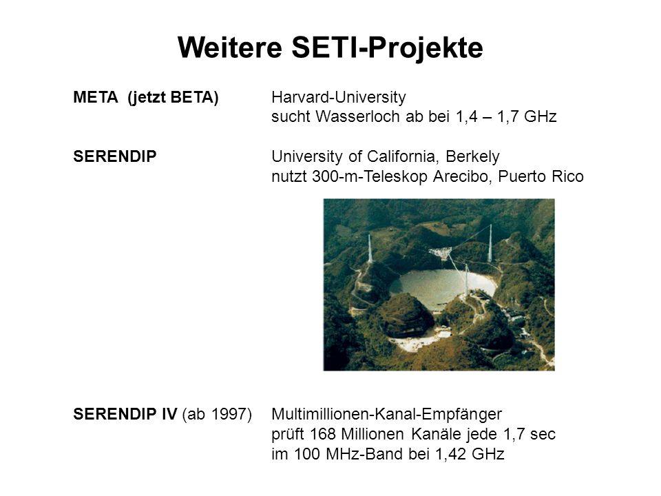 Weitere SETI-Projekte