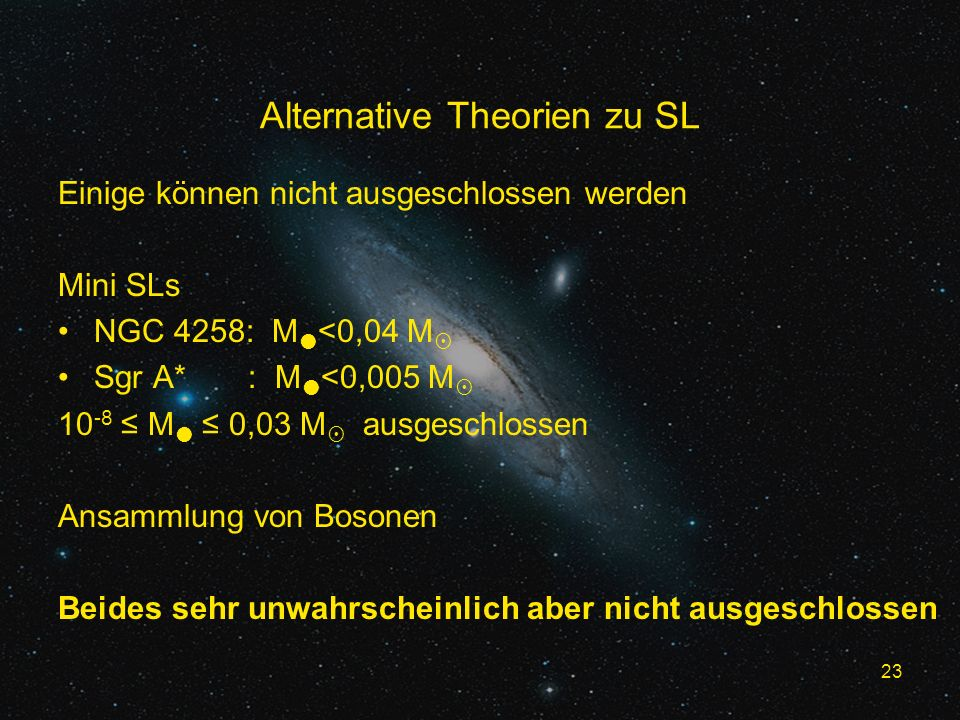 Alternative Theorien zu SL