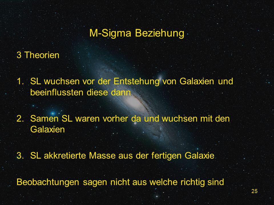 M-Sigma Beziehung 3 Theorien