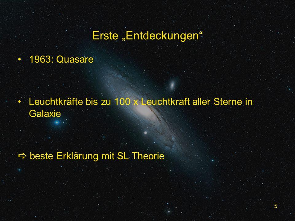 "Erste ""Entdeckungen 1963: Quasare"