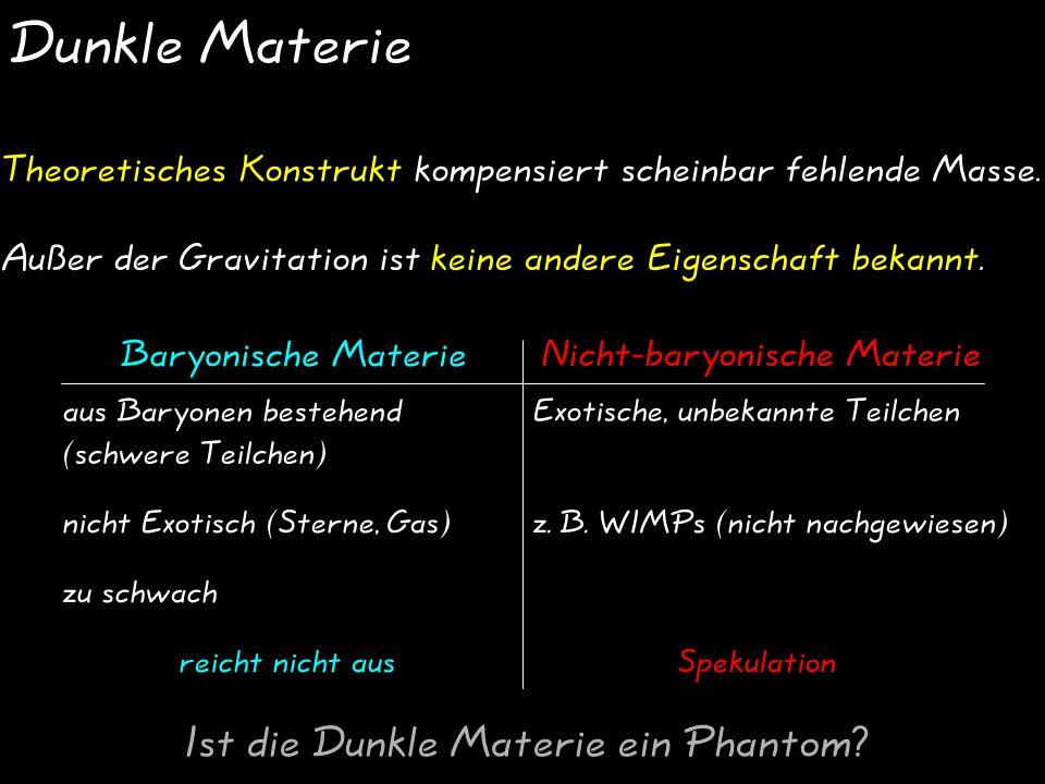Dunkle Materie Ist die Dunkle Materie ein Phantom