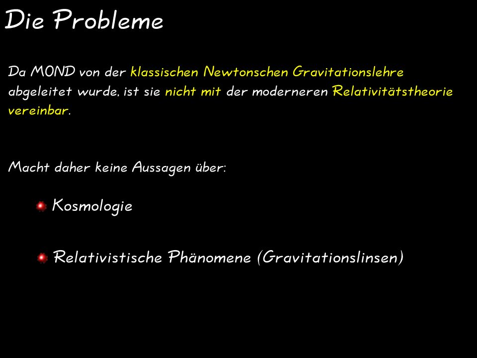 Die Probleme Kosmologie Relativistische Phänomene (Gravitationslinsen)