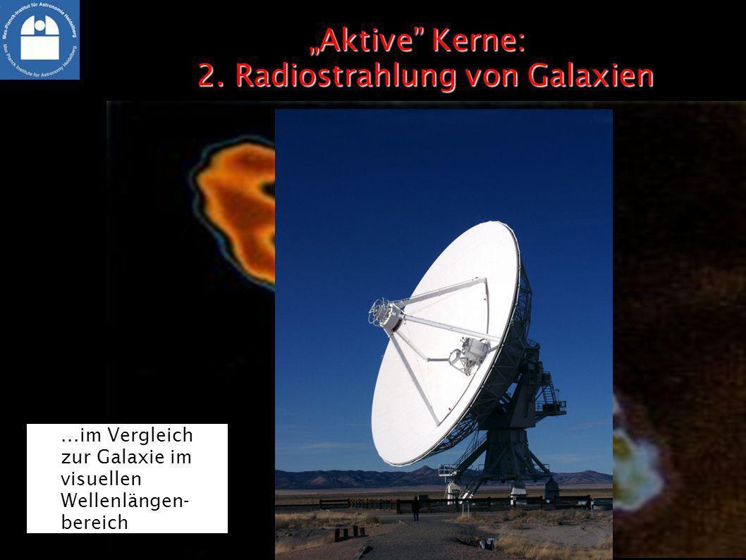 """""""Aktive Kerne: 2. Radiostrahlung von Galaxien"""