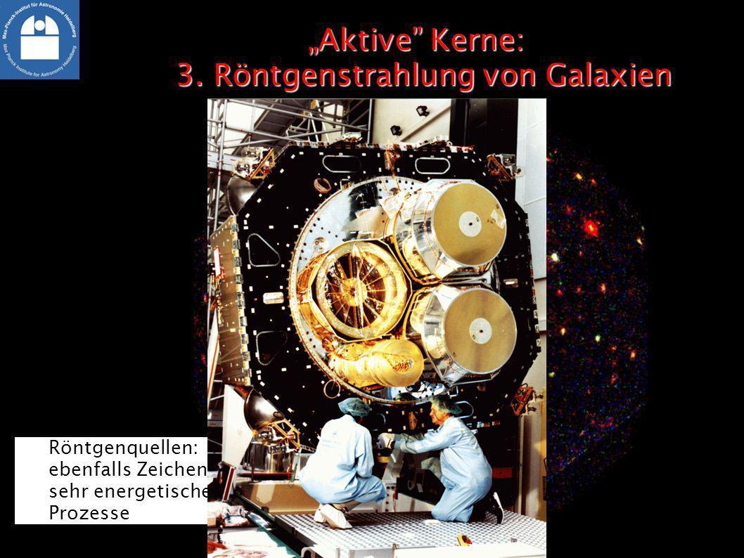 """""""Aktive Kerne: 3. Röntgenstrahlung von Galaxien"""