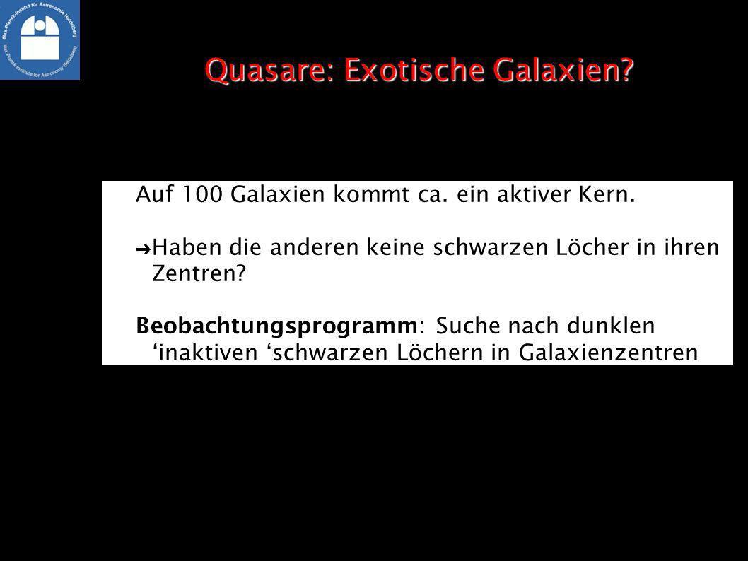 Quasare: Exotische Galaxien