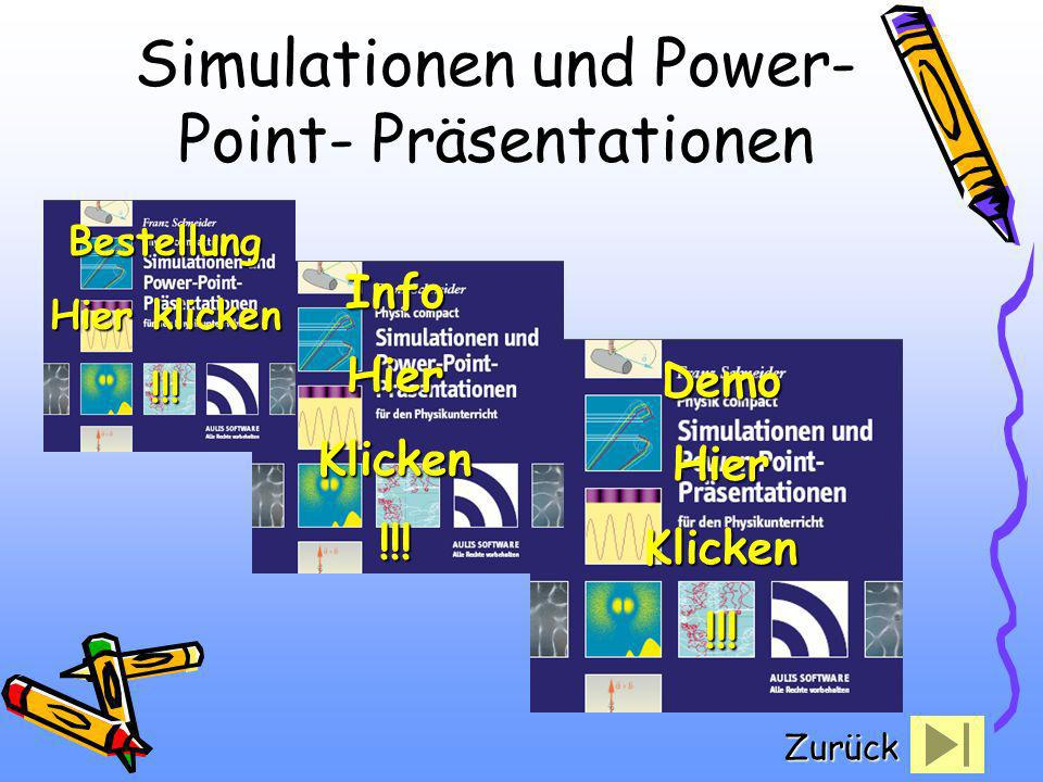 Simulationen und Power-Point- Präsentationen