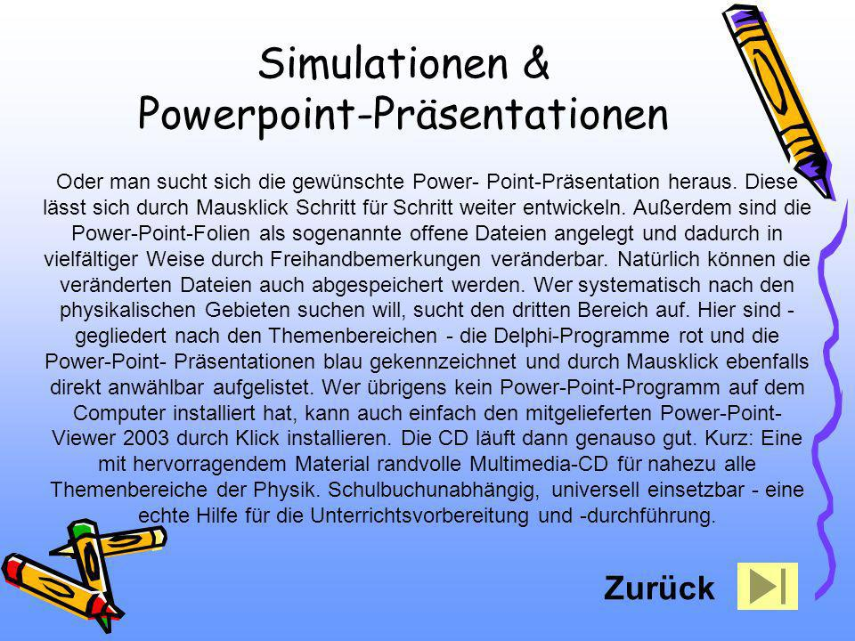 Simulationen & Powerpoint-Präsentationen