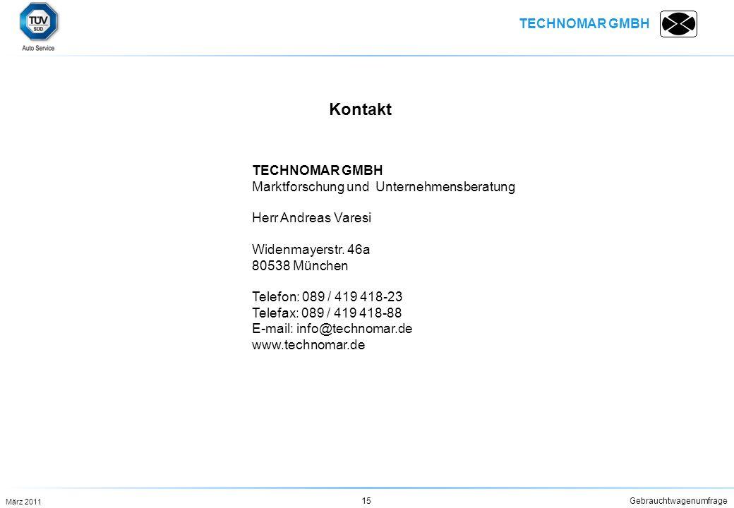 Kontakt TECHNOMAR GMBH Marktforschung und Unternehmensberatung