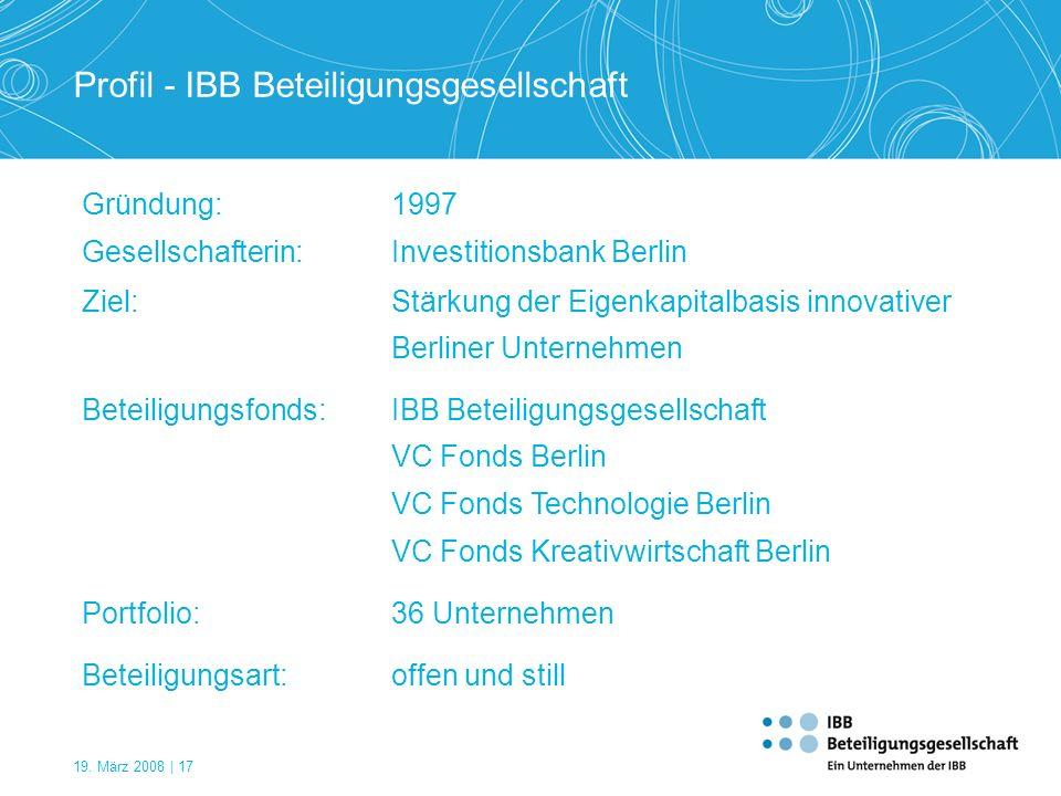 Profil - IBB Beteiligungsgesellschaft
