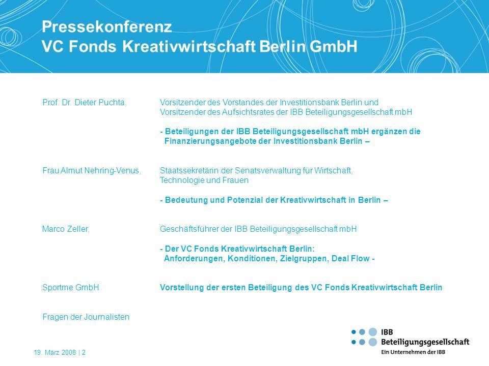 VC Fonds Kreativwirtschaft Berlin GmbH