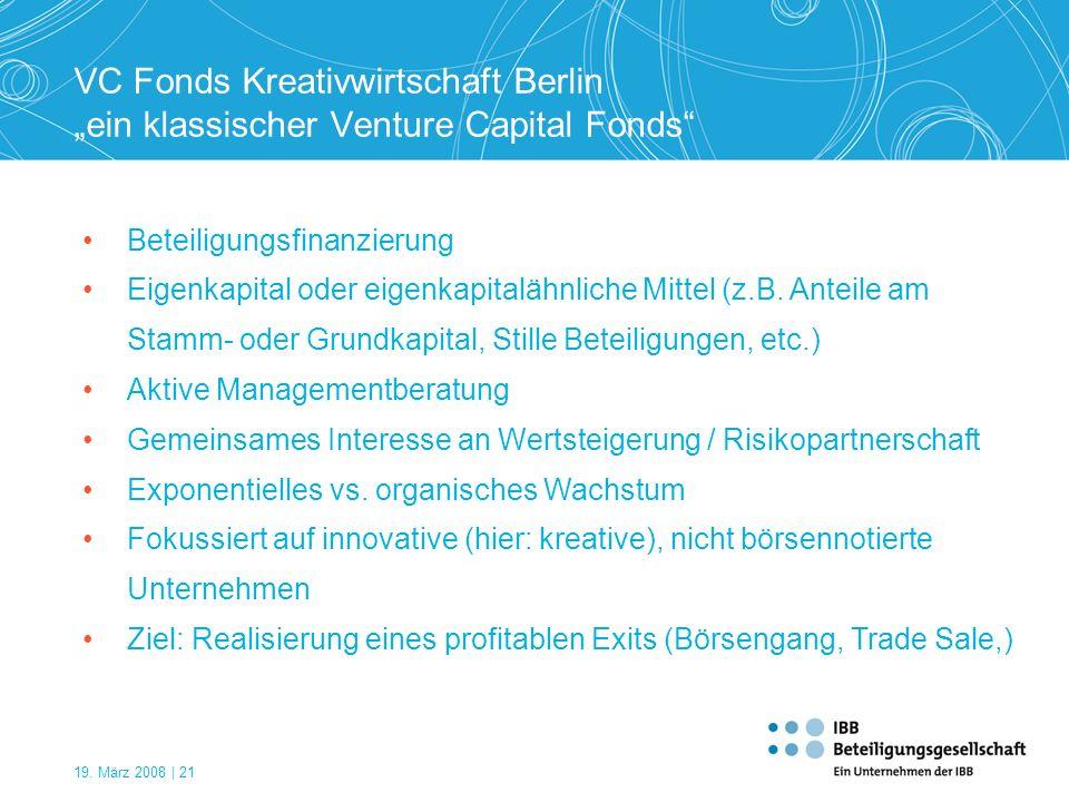 "VC Fonds Kreativwirtschaft Berlin ""ein klassischer Venture Capital Fonds"