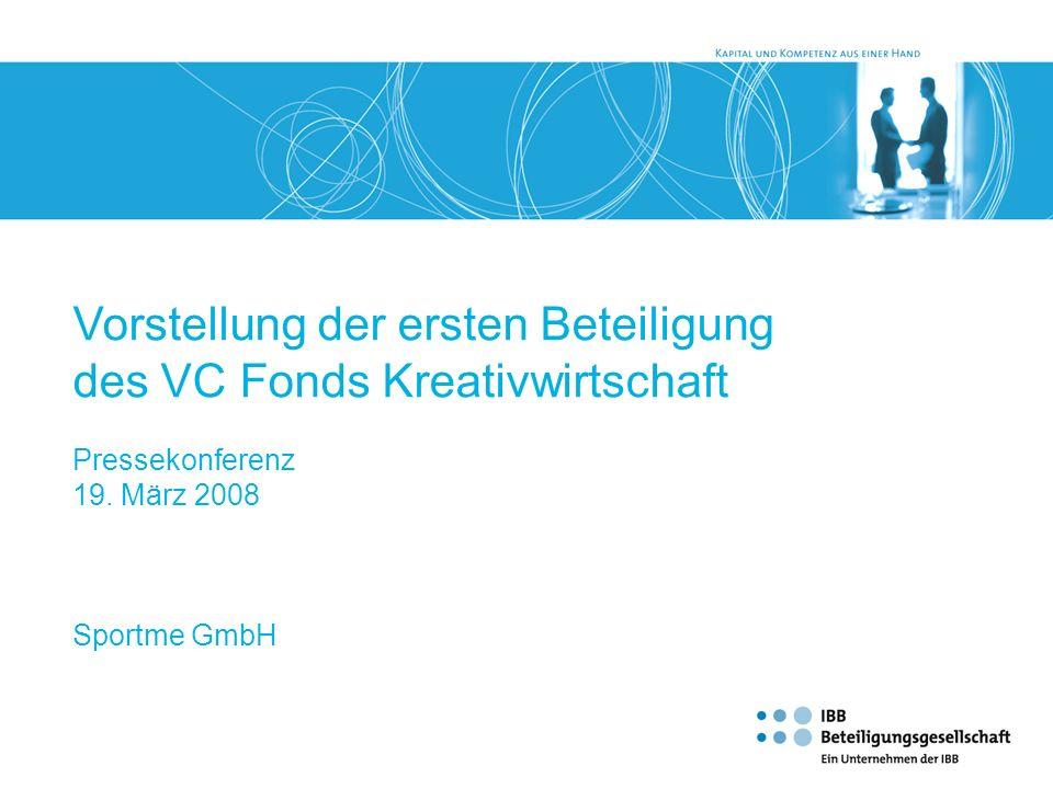 Vorstellung der ersten Beteiligung des VC Fonds Kreativwirtschaft
