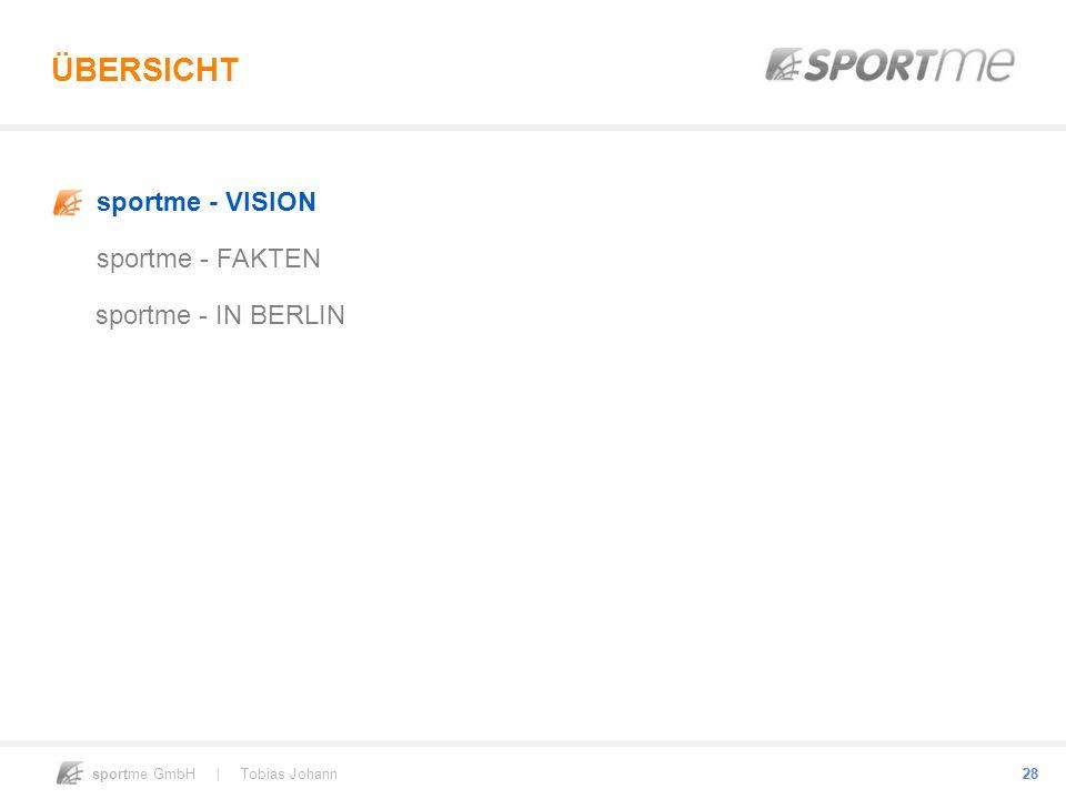 ÜBERSICHT sportme - VISION sportme - FAKTEN sportme - IN BERLIN 28 28