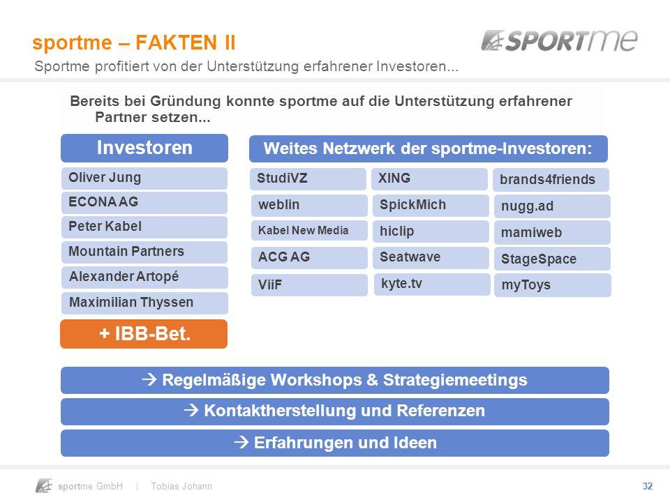 sportme – FAKTEN II Investoren + IBB-Bet.