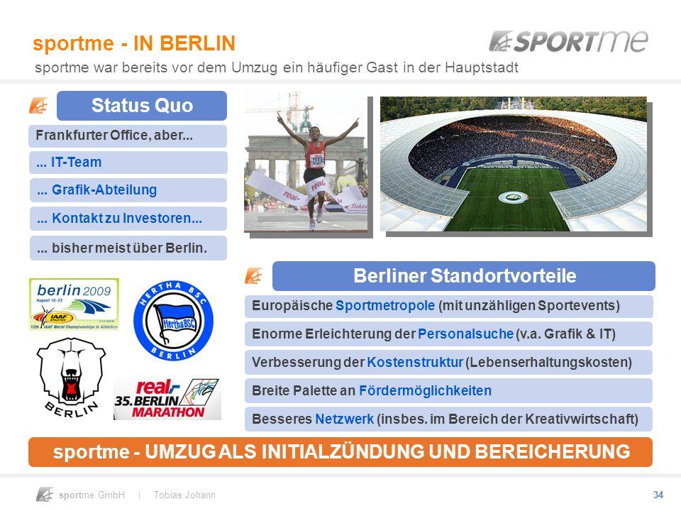 sportme - IN BERLIN Status Quo Berliner Standortvorteile