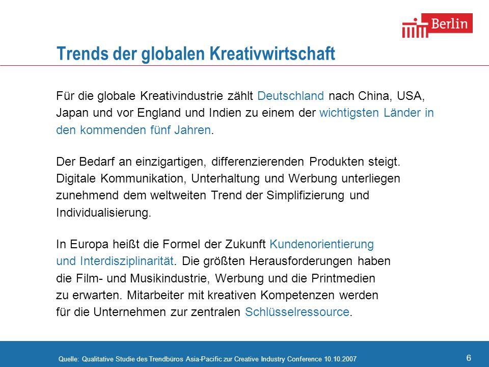 Trends der globalen Kreativwirtschaft