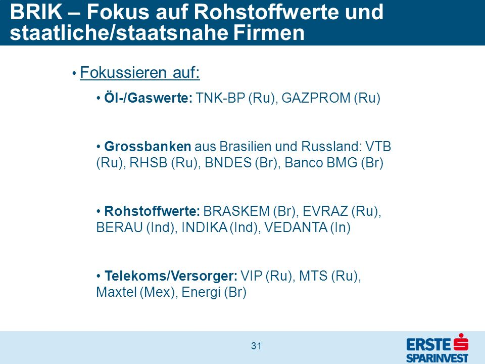 BRIK – Fokus auf Rohstoffwerte und staatliche/staatsnahe Firmen