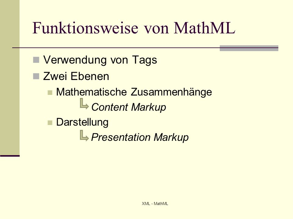 Funktionsweise von MathML