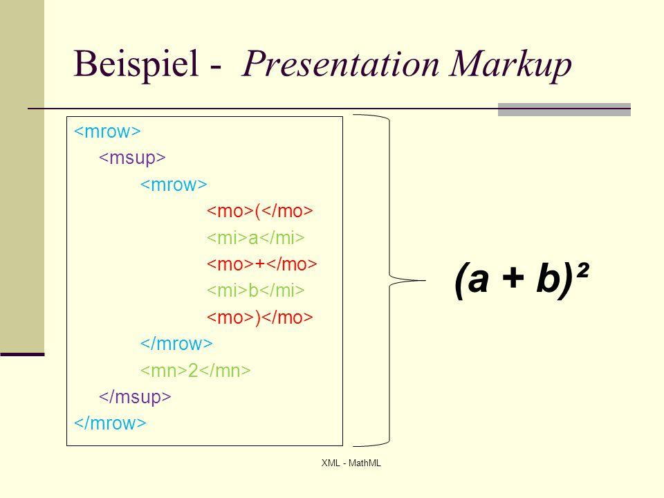 Beispiel - Presentation Markup