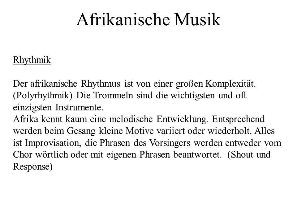 Afrikanische Musik Rhythmik