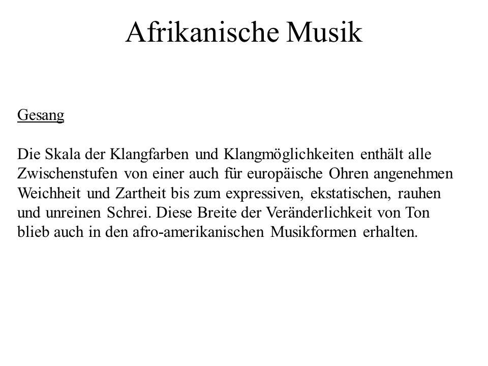 Afrikanische Musik Gesang