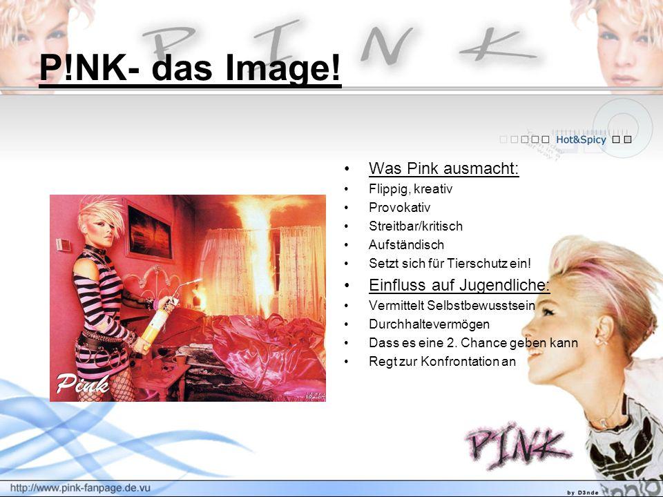 P!NK- das Image! Was Pink ausmacht: Einfluss auf Jugendliche:
