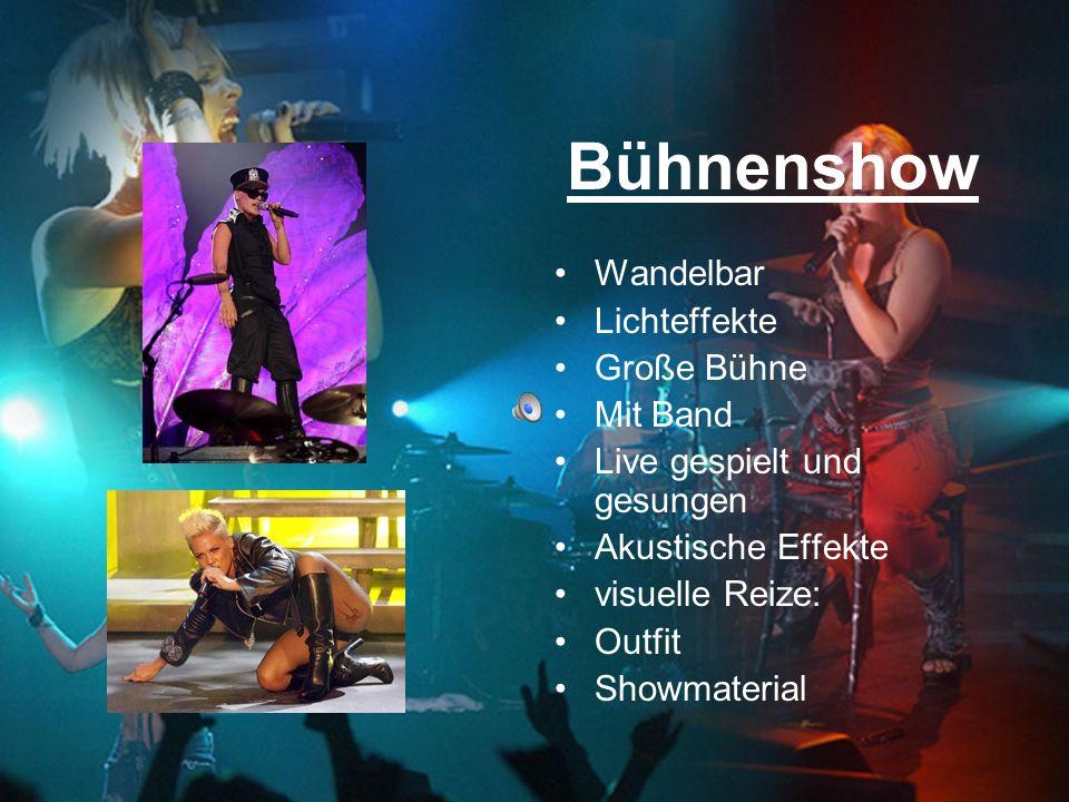Bühnenshow Wandelbar Lichteffekte Große Bühne Mit Band