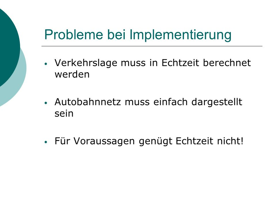 Probleme bei Implementierung