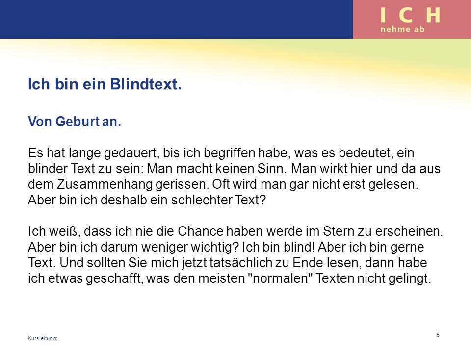 Ich bin ein Blindtext.