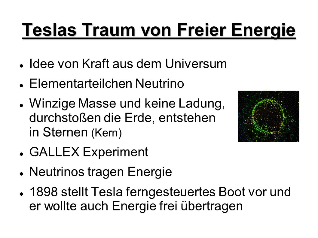Teslas Traum von Freier Energie