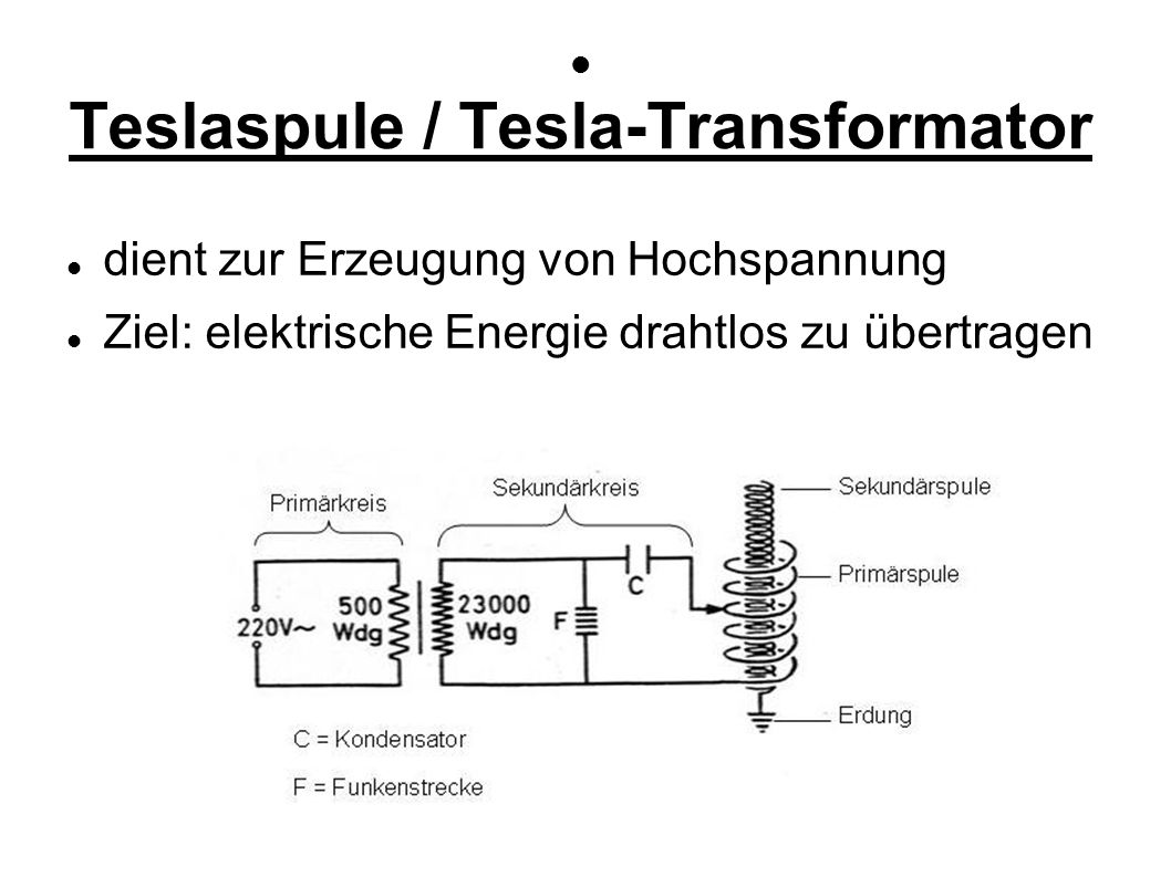Teslaspule / Tesla-Transformator