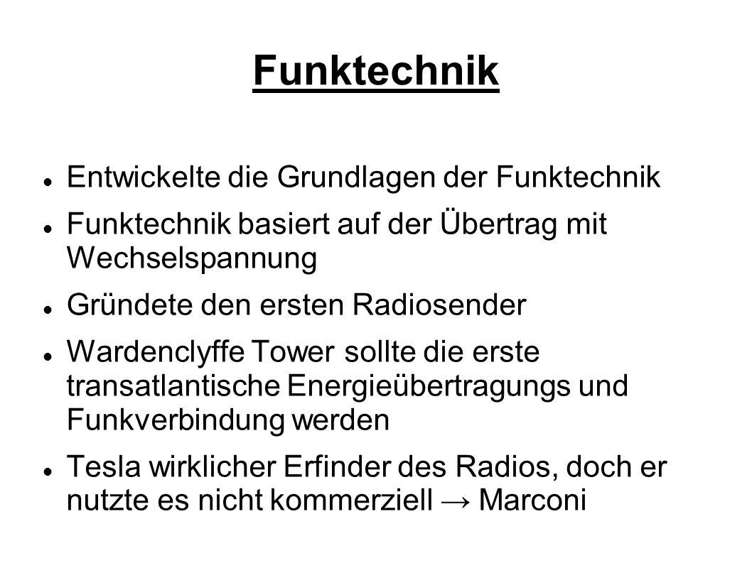 Funktechnik Entwickelte die Grundlagen der Funktechnik