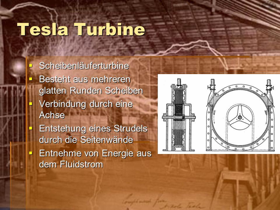 Tesla Turbine Scheibenläuferturbine