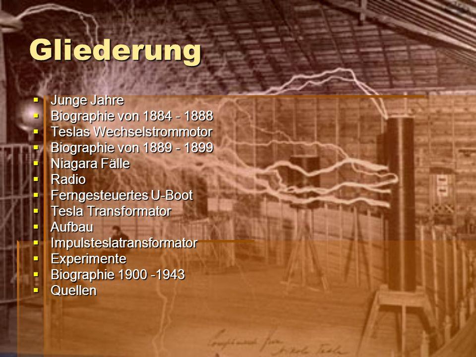 Gliederung Junge Jahre Biographie von 1884 - 1888