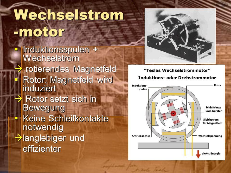 Wechselstrom -motor Induktionsspulen + Wechselstrom